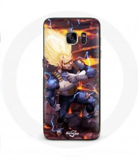 Galaxy S6 Edge case dragon ball vegeta super saiyan