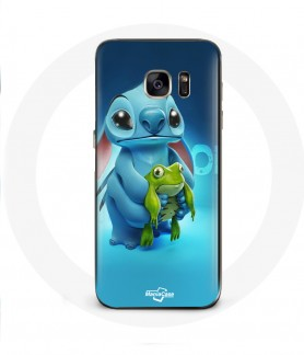 Galaxy S6 Edge case Stitch and The frog