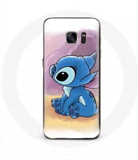 Galaxy S6 Edge case stitch blue
