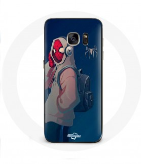 Galaxy S6 Edge case spider man into the spider pour