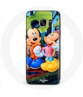 Galaxy S6 Edge case mickey mouse and minnie mouse