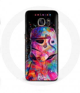 Galaxy S6 Edge case star wars soldiers color swag