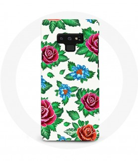 Coque Galaxy Note 9 Fleur Rose