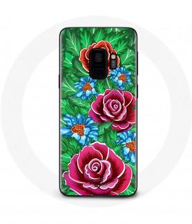 Galaxy S9 Pink Flower Case
