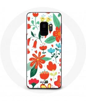 Galaxy S9 Flower Texture Case