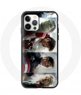 Silicon iPhone 12 pro case avengers hulk iron-man captain america thor