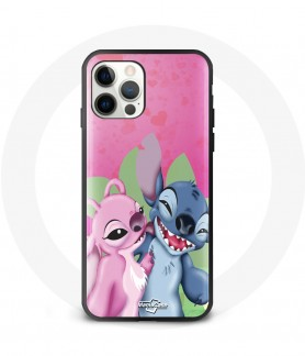 Silicon iPhone 12 lilo and stitch case maniacase