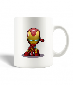 Iron man cartoon mug